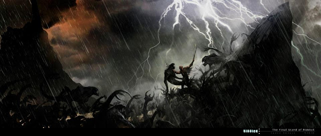 Riddick Concept art Riddick's last stand