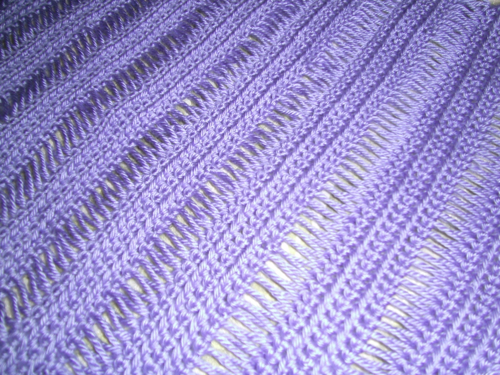 My Fabulously Flawed Life: Broomstick Lace Friendship Shawl