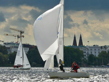 J/22 one-design sailboat - sailing in Germany