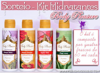 Sorteio Kit Hidratante Body Pleasure Kanitz