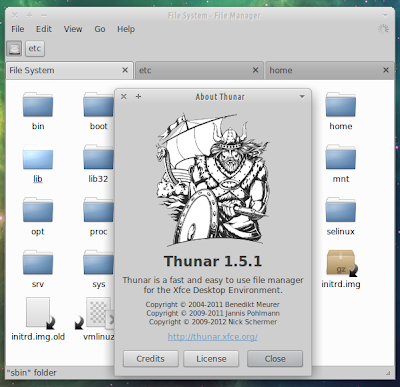 Thunar 1.5.1 running on Xubuntu 12.04