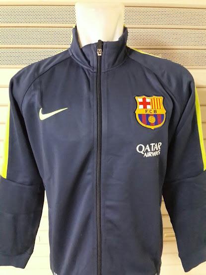 Jual Jaket Barcelona Hitam List Kuning 2014-2015