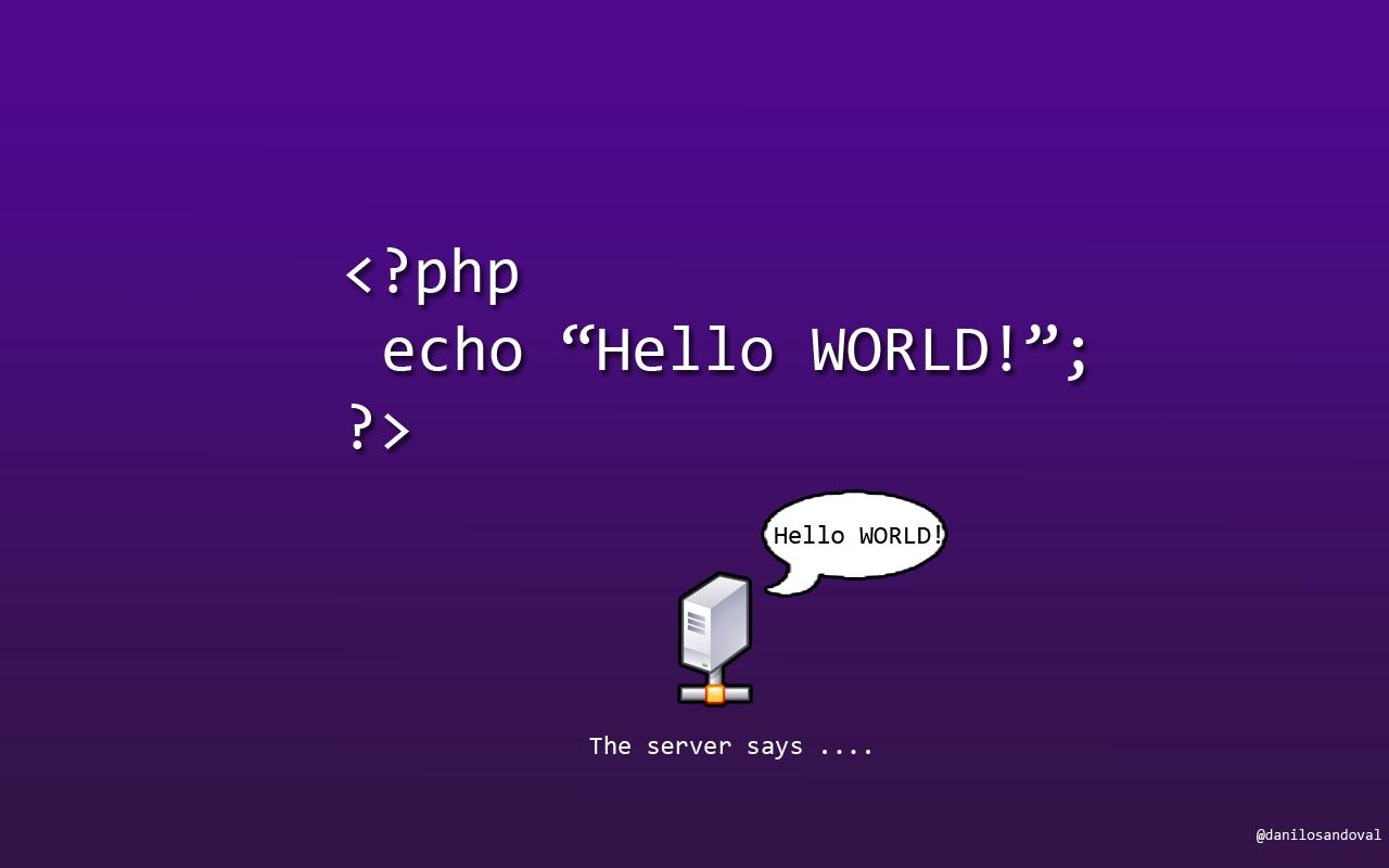 php code обои  - справочник для начинающих hello world