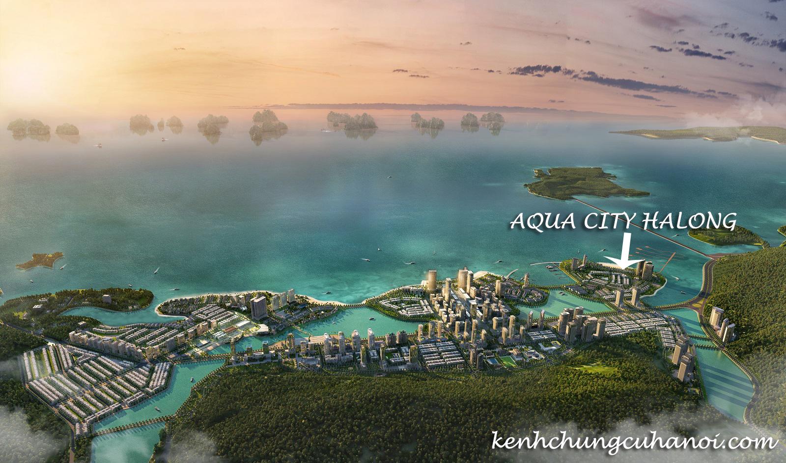 Vị trí vàng hiếm có của Aqua City Halong