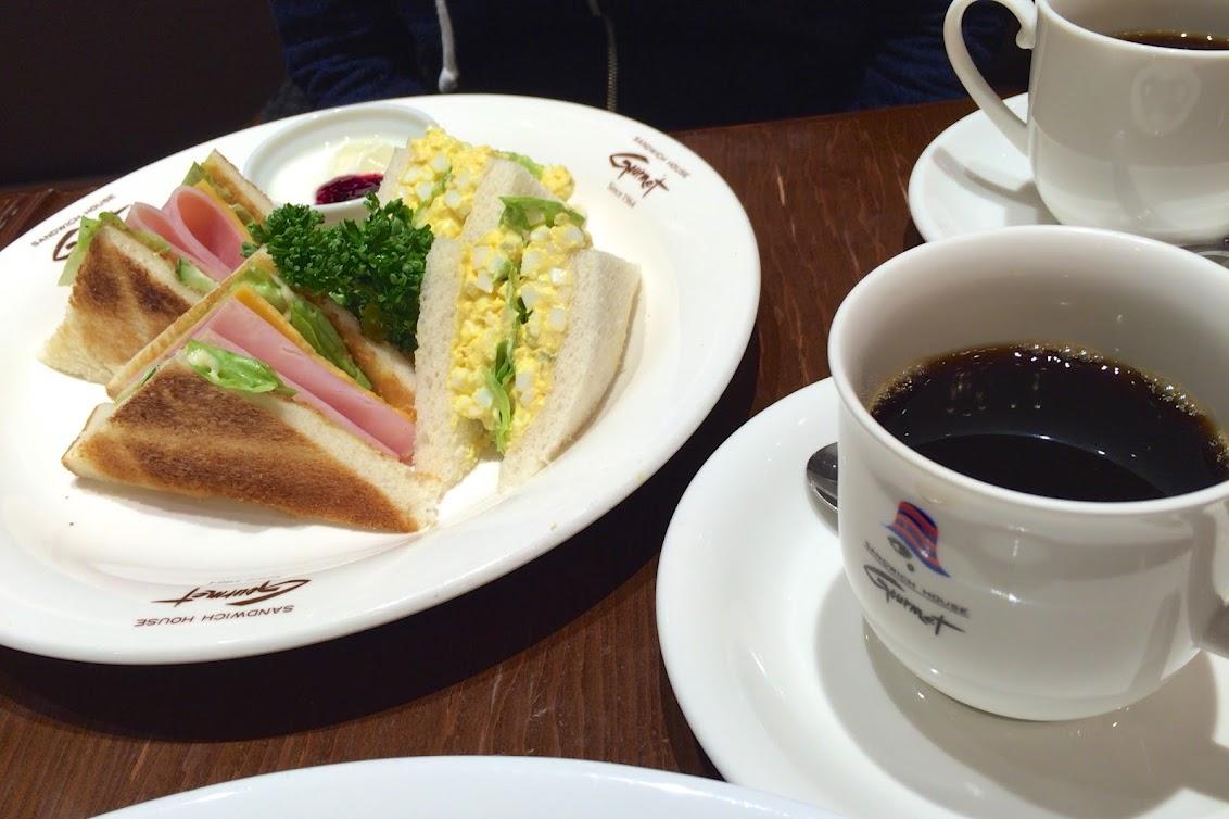 デザート&コーヒー付きサンドウイッチセット