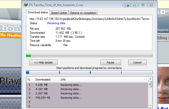 6.Download speed with my idm