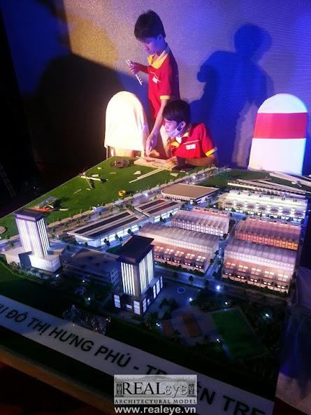 Mô hình kiến trúc khu dân cư Hưng Phú – REALEYE