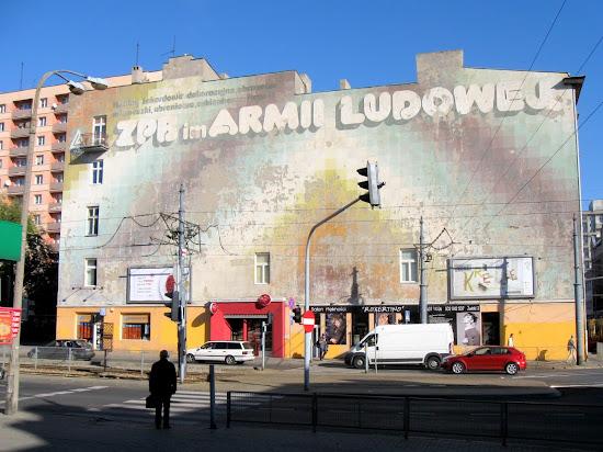 Łódź - murale po czasach PRL