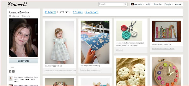 Pinterest: my pins