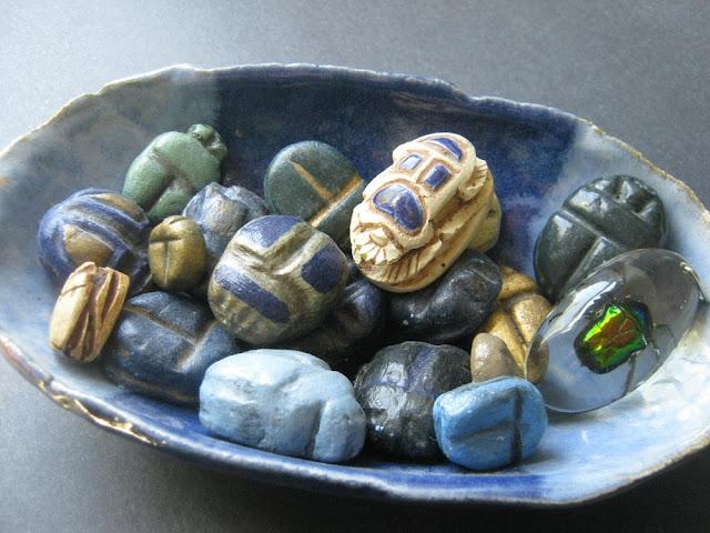 Assorted Scarab Beetle Trinkets