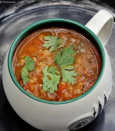 Barley Vegetable Soup Recipe   Vegetarian Healthy Soups written by Kavitha Ramaswamy of Foodomania.com