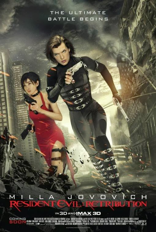 Poster Of Resident Evil: Retribution (2012) Full Movie Hindi Dubbed Free Download Watch Online At Alldownloads4u.Com