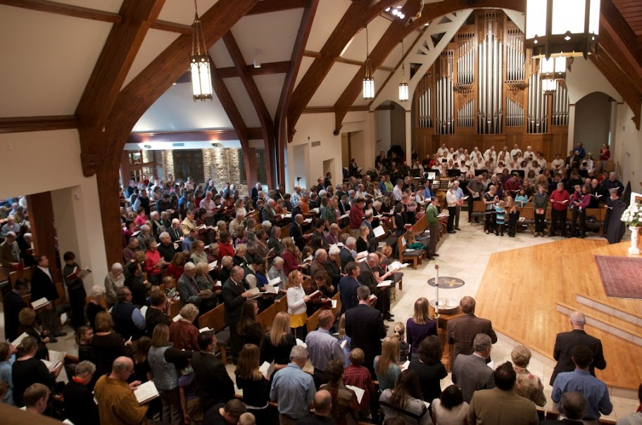Image of Lutheran Worship, congregating about the Means of Grace – St. Matthew's Ev. Lutheran Church, Wauwatosa, WI