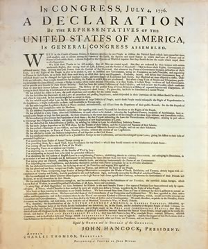 """declaration of independence rhetoric strategies In """"the declaration of independence"""" thomas jefferson calls for the separation of the american."""