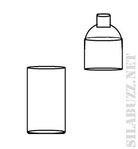 botol plastik dibagi 2