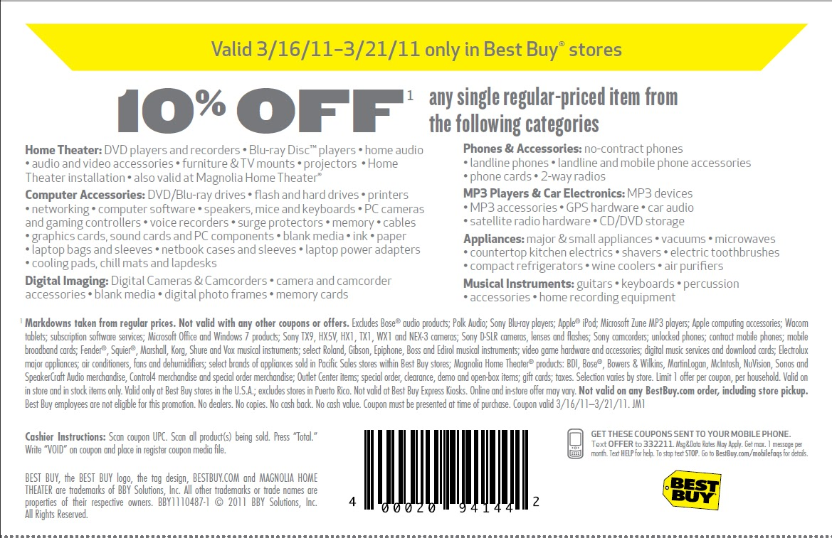 Best buy coupon codes 10 off online