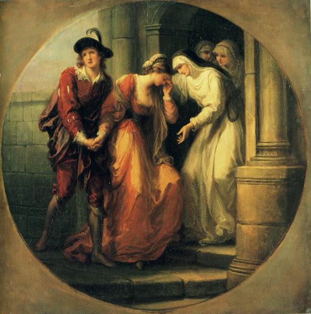 Angelica Kauffmann - The Farewell of Abelard and Héloïse