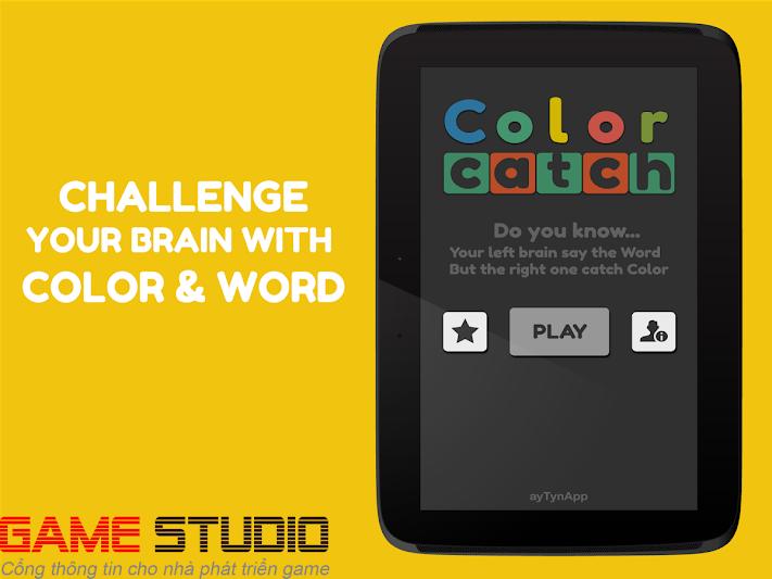 Color Catch – một game đơn giản thử thách não bộ của bạn với từ vựng và màu sắc