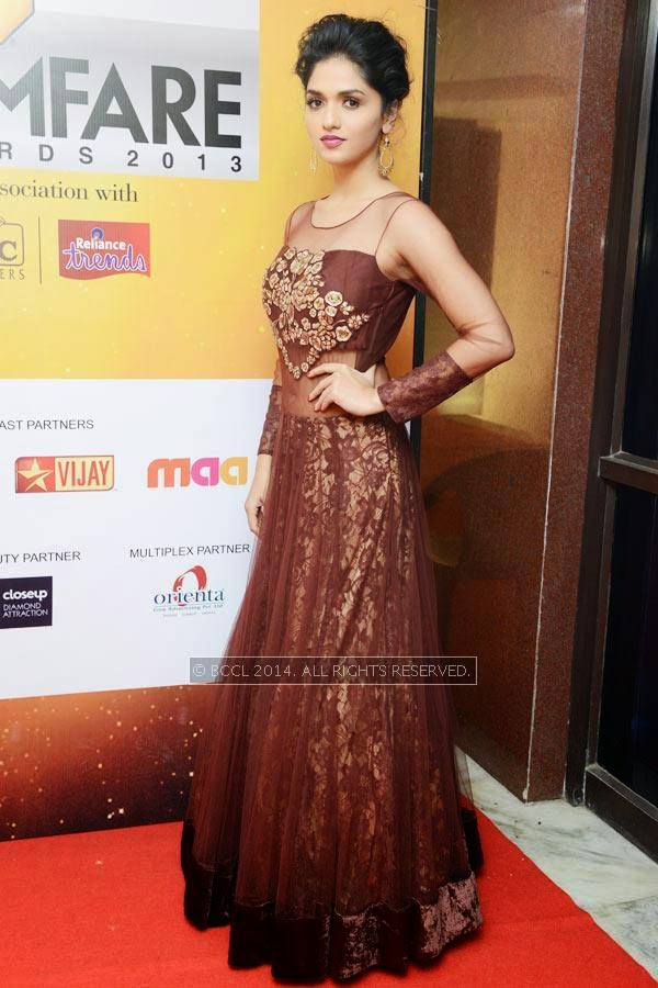 Sunaina during the 61st Idea Filmfare Awards South, held at Jawaharlal Nehru Stadium in Chennai, on July 12, 2014.