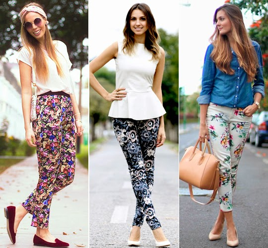 calça floral