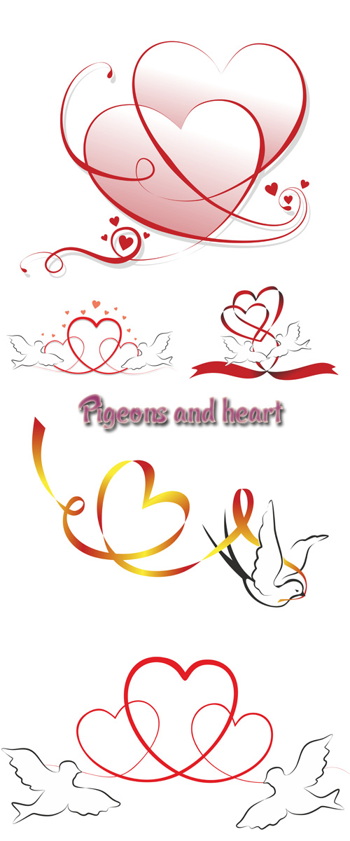 Stock: Pigeons and heart