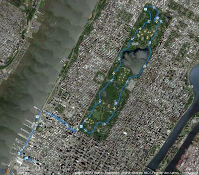 Central Park 10 Miler GPS Track
