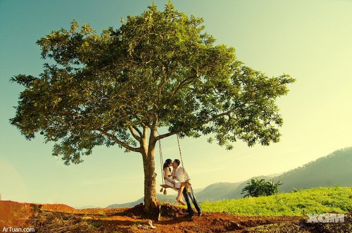 A romantic moment of young couple Vietnam