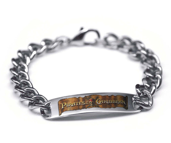 Pirates of the Caribbean Color Stainless Steel Bracelet