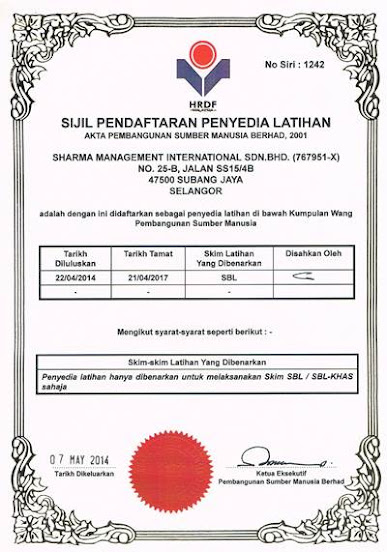 Sharma Management International PSMB Certificate