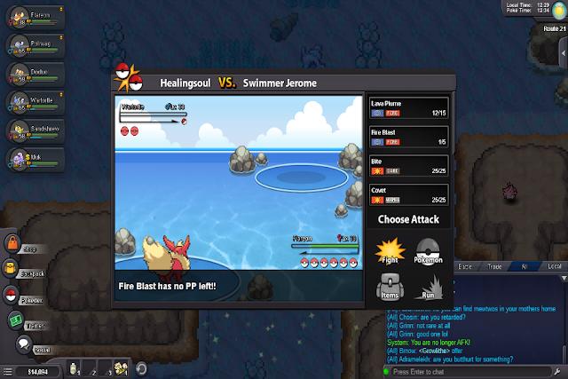 Trận đấu trong Pokemon Revolution online