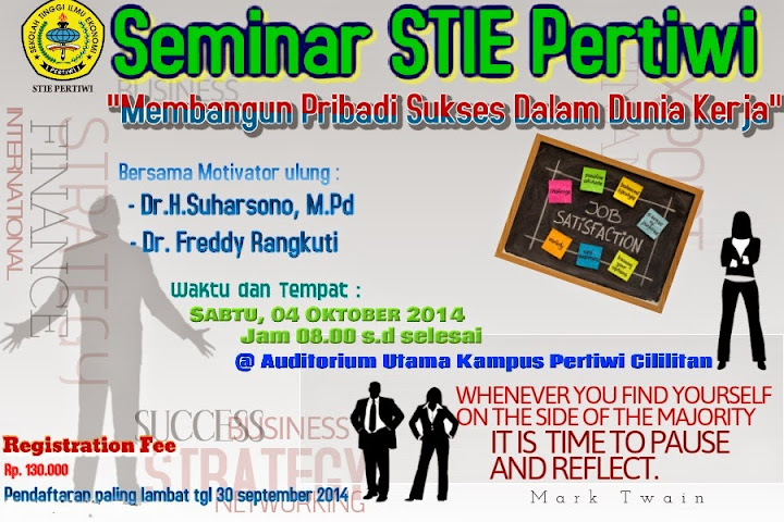 Seminar STIE Pertiwi 2014