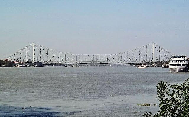 howrah bridge with schooner on river hooghly