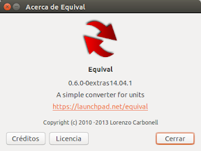 Cambiar unidades con Equival en Ubuntu Trusty Tahr
