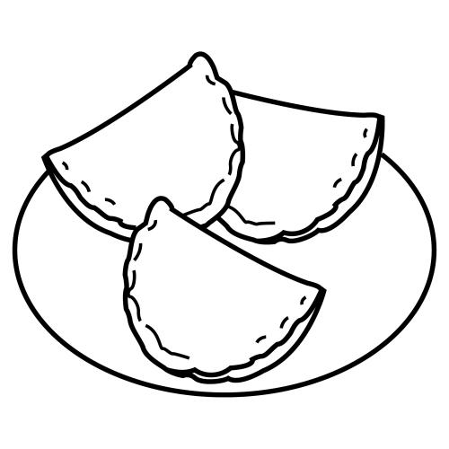 Pinto Dibujos: Empanadas para colorear