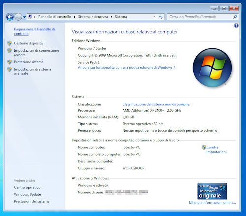 Windows 7 Starter Sp1