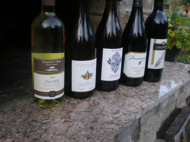 Another shot of the wine lineup. Just a few of my favourites.
