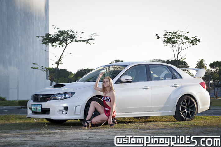 Premier Vixen Linda Jean Stevens and the Subaru Impreza STi Sedan Custom Pinoy Rides Car Photography