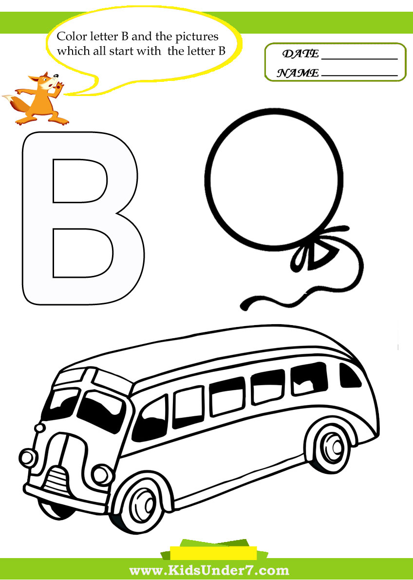 Letter B Coloring Pages For Preschoolers : Letter b worksheets for preschool abitlikethis
