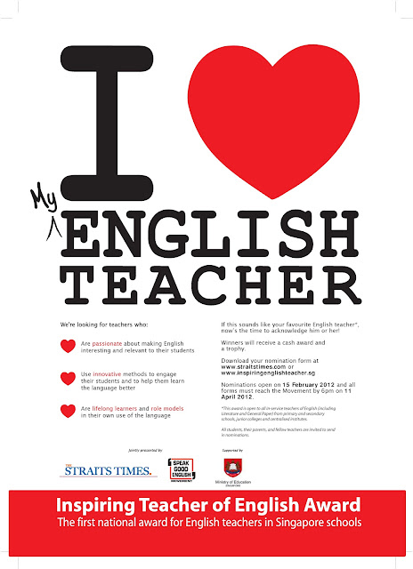 I LOVE MY ENGLISH TEACHER!