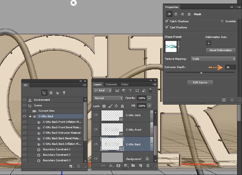 Photoshop - เทคนิคการสร้างตัวอักษร 3D Glowing แบบเนียนๆ ด้วย Photoshop 3dglow23