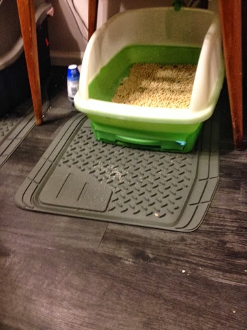 Rubber Heavy Duty Car Floor Mats Are Great Under Cat Boxes