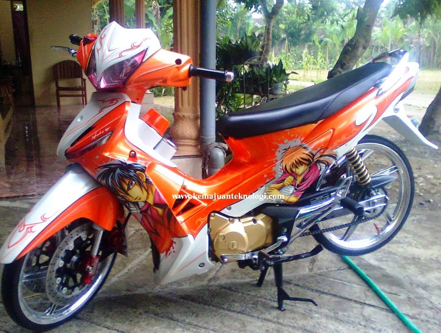 Supra X 125 Modifikasi Drag