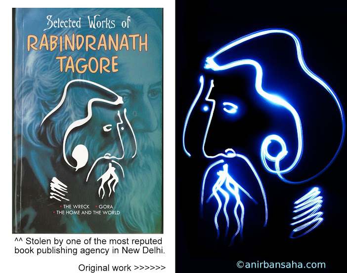 Tagore light painting, jainco publisher plagiarism