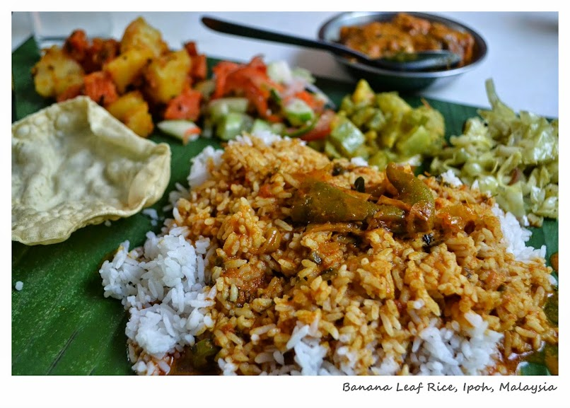 Banana Leaf Rice, Old Andersonian Club and Cafeteria, Ipoh, Perak, Malaysia