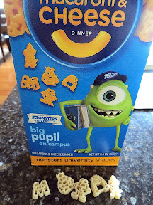 Blue Box Mac N Cheese Kraft Monsters University Version