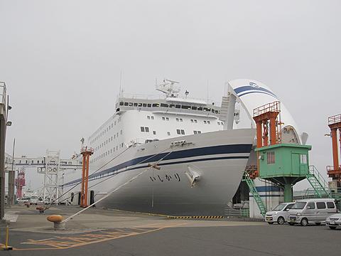 太平洋フェリー「新いしかり」 仙台港にて