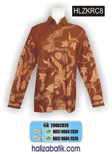 model baju muslim, baju batik lengan panjang, mode batik modern