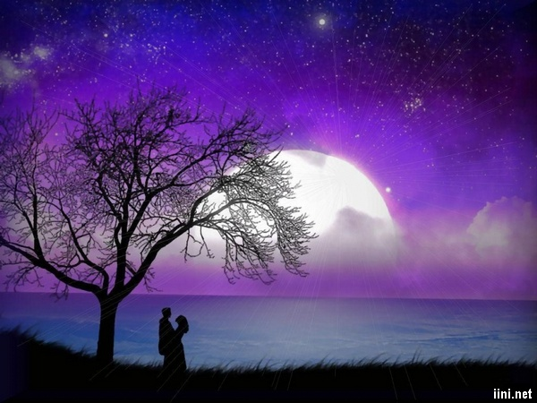 ảnh hôn nhau dưới trăng