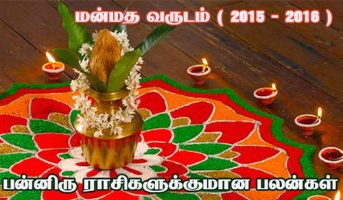 மன்மத வருஷ ராசி பலன்கள்