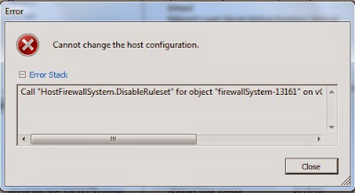ErrorVMwareHostFirewallSystem.DisableRuleset